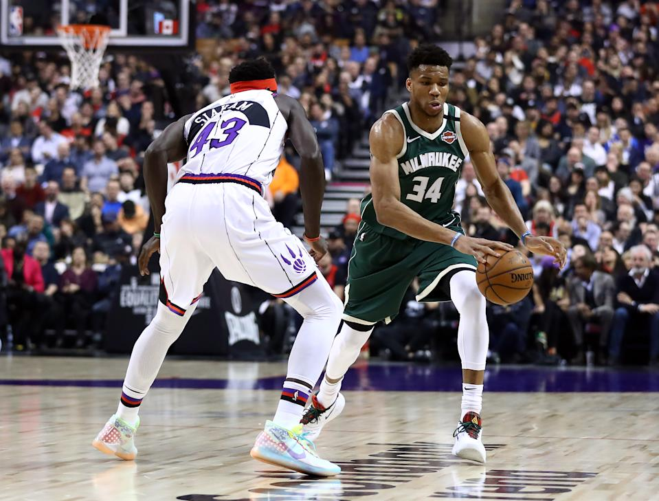 Did the Milwaukee Bucks' moves crush the Toronto Raptors' chances of landing Giannis Antetokounmpo in free agency next summer? (Photo by Vaughn Ridley/Getty Images)