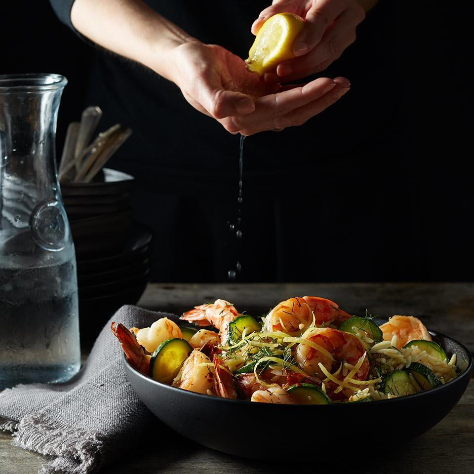 <p>This light and veggie-packed shrimp and pasta dish makes a special weeknight dinner.</p>