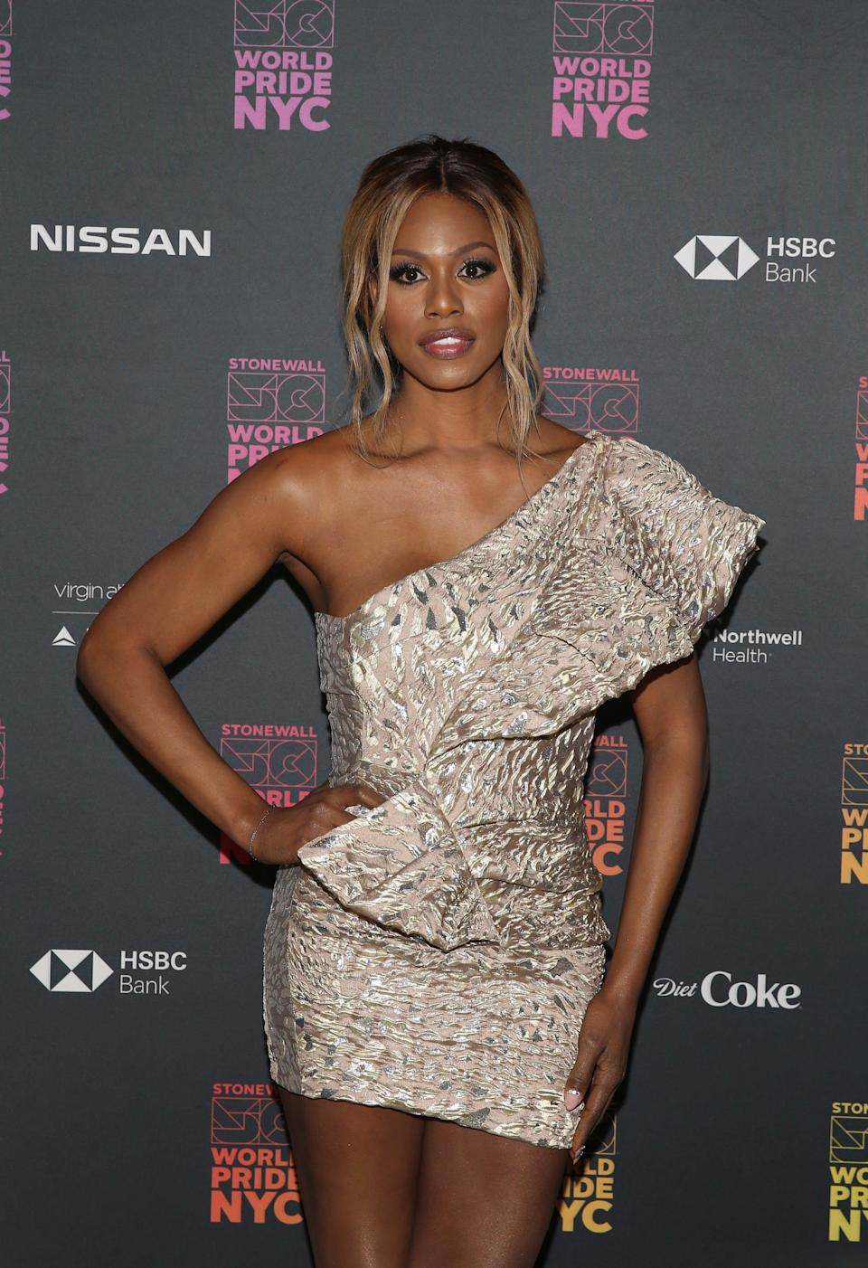 Laverne Cox attends the WorldPride NYC 2019 opening ceremony.