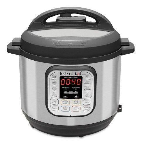 """<p><strong>Instant Pot</strong></p><p>amazon.com</p><p><strong>$63.94</strong></p><p><a href=""""https://www.amazon.com/dp/B06Y1YD5W7?tag=syn-yahoo-20&ascsubtag=%5Bartid%7C10070.g.26944695%5Bsrc%7Cyahoo-us"""" rel=""""nofollow noopener"""" target=""""_blank"""" data-ylk=""""slk:SHOP NOW"""" class=""""link rapid-noclick-resp"""">SHOP NOW</a></p><p>Planning meals with a little one is difficult, but this three-quart multifunctional electric pot has seven smart features to make getting dinner on the table easier than ever. </p>"""