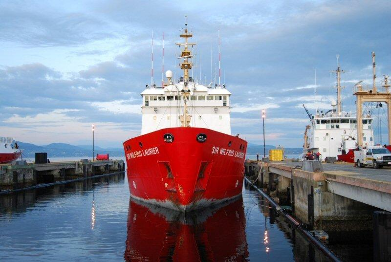 Canadian Coast Guard Ship Sir Wilfrid Laurier Returns From the Arctic