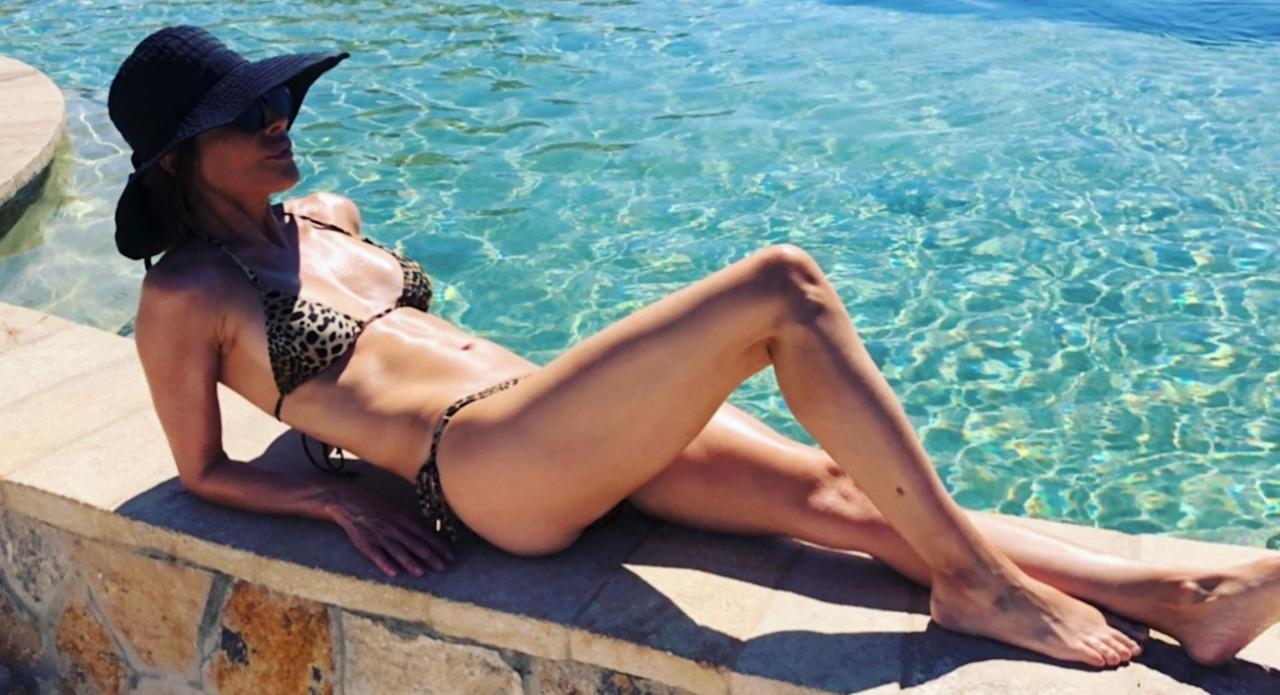 Lisa Rinna is sharing some bikini pix from her vacation.