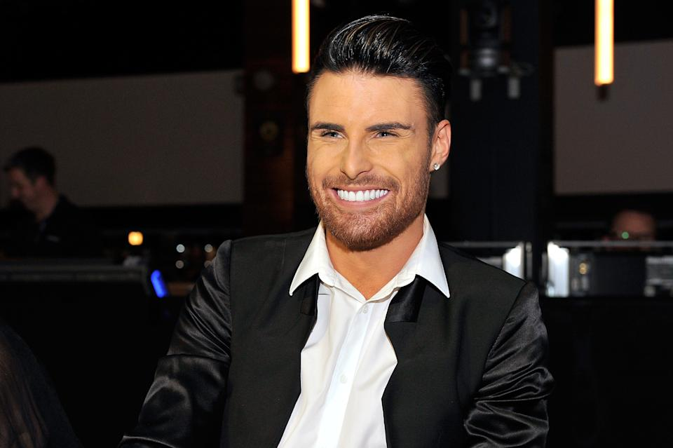 LONDON, ENGLAND - OCTOBER 10:  Rylan Clark sits on the panel of judges at the annual Newsroom's Got Talent event to raise money for the Leonard Cheshire Disability charity and UNICEF at Indigo2 at O2 Arena on October 10, 2013 in London, England.  (Photo by Matt Kent/ITN 2013/WireImage)
