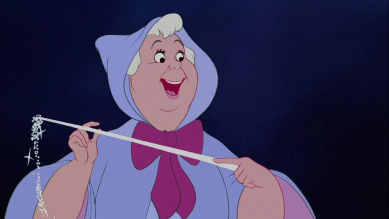 The Fairy Godmother in the 1950 version of Cinderella. (Photo: Disney)