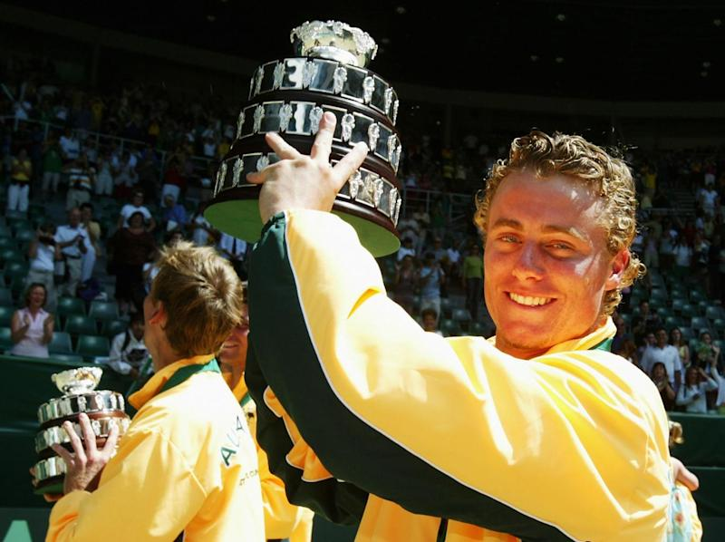 Hewitt helped Australia win the Davis Cup in 2003 (Getty)