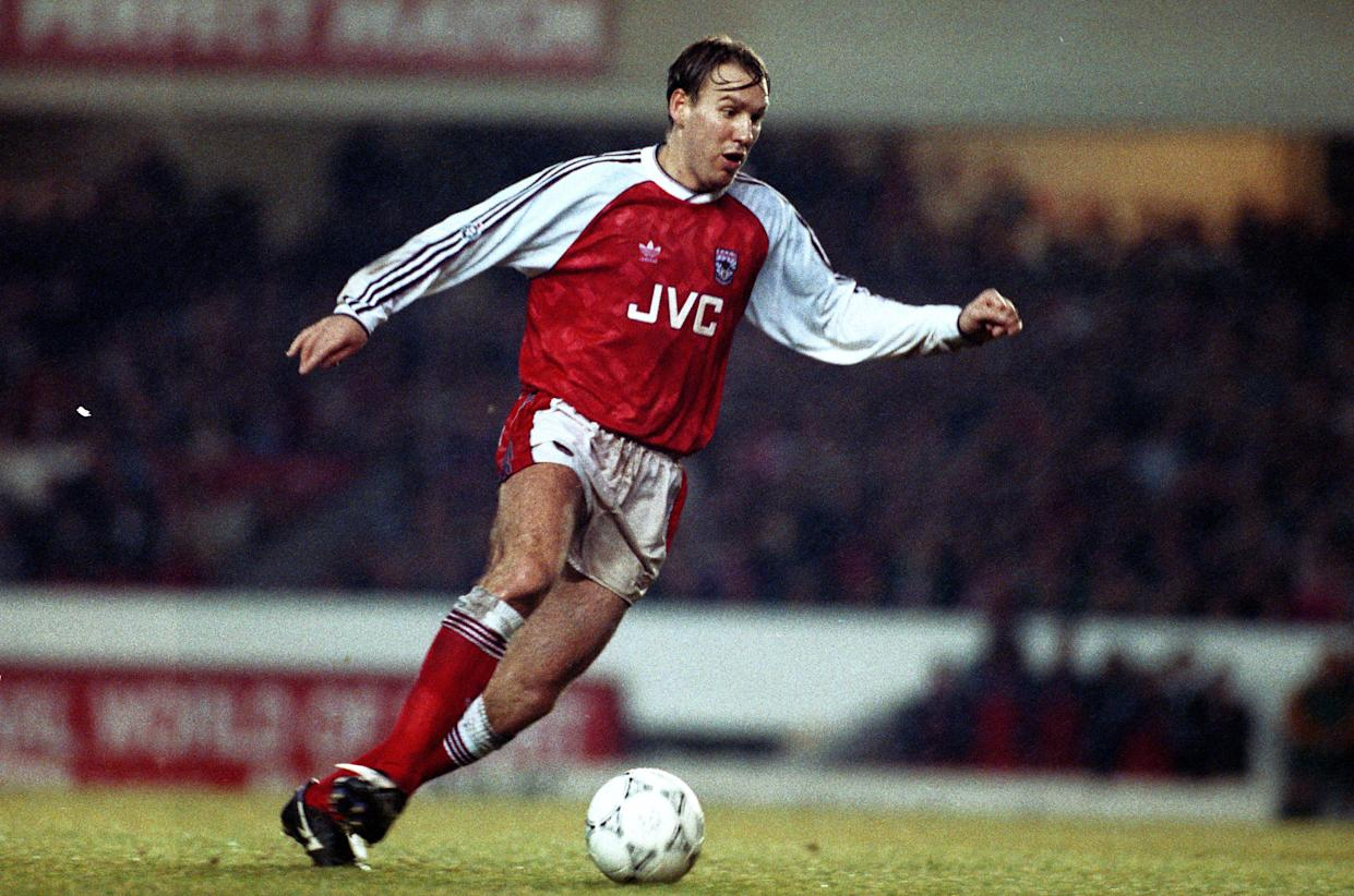 29 December 1990 - English Football Division One - Arsenal v Sheffield United - Paul Merson of Arsenal. -    (Photo by Mark Leech/Offside via Getty Images)