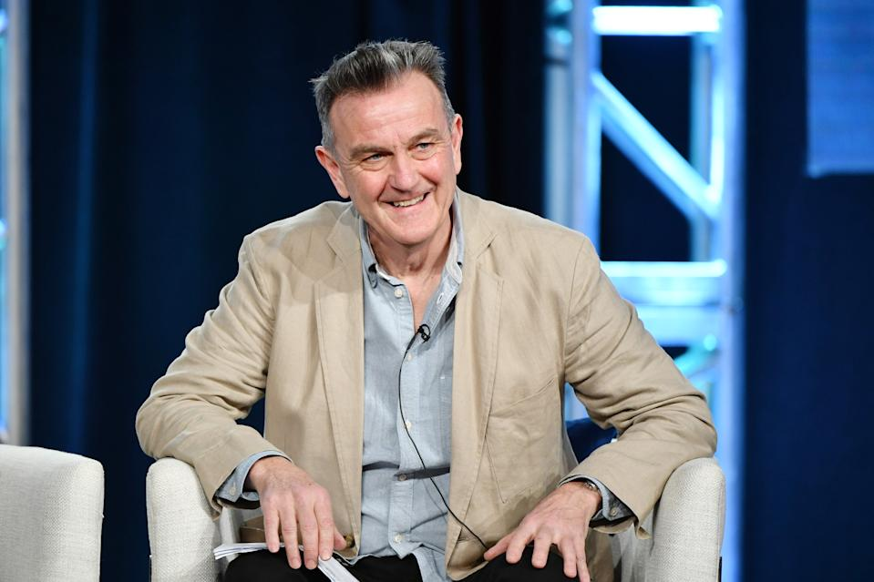 "PASADENA, CALIFORNIA - JANUARY 10: Writer Peter Bowker of Masterpiece ""World on Fire"" speaks during the PBS segment of the 2020 Winter TCA Press Tour  at The Langham Huntington, Pasadena on January 10, 2020 in Pasadena, California. (Photo by Amy Sussman/Getty Images)"