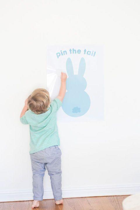 "<p>Pin the Tail on the Donkey is a classic—<a href=""http://sugarandcharm.com/2014/04/pin-the-tail-on-the-easter-bunny-printable.html"" rel=""nofollow noopener"" target=""_blank"" data-ylk=""slk:print this bunny image and tails"" class=""link rapid-noclick-resp"">print this bunny image and tails</a> for an Easter twist on the tried-and-true game. </p><p><strong>Get the full instructions and free printable at <a href=""http://sugarandcharm.com/2014/04/pin-the-tail-on-the-easter-bunny-printable.html"" rel=""nofollow noopener"" target=""_blank"" data-ylk=""slk:Sugar and Charm"" class=""link rapid-noclick-resp"">Sugar and Charm</a>.</strong></p>"