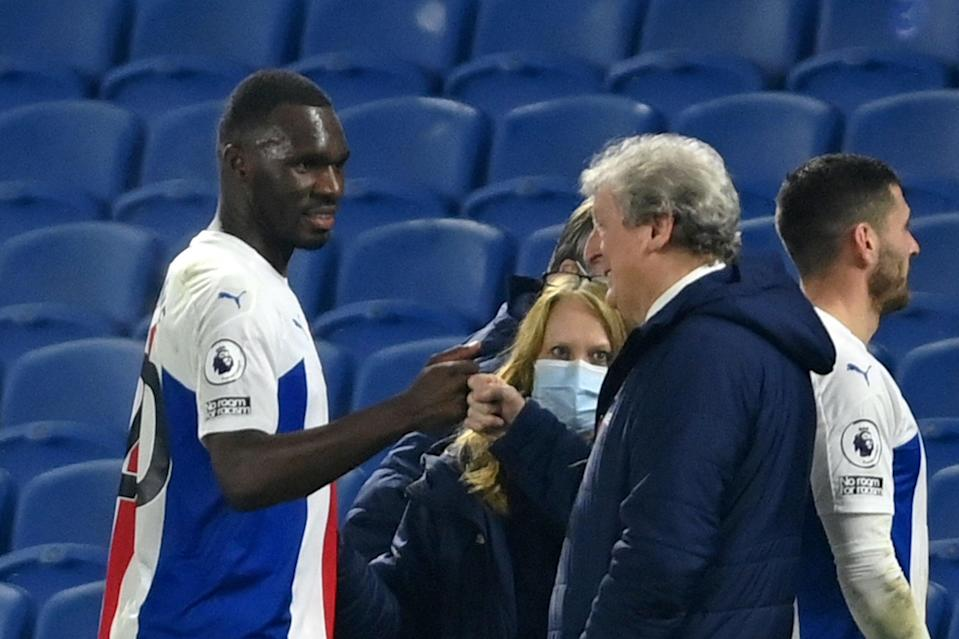 <p>Christian Benteke is one of 11 Palace players out of contract this summer</p> (POOL/AFP via Getty Images)
