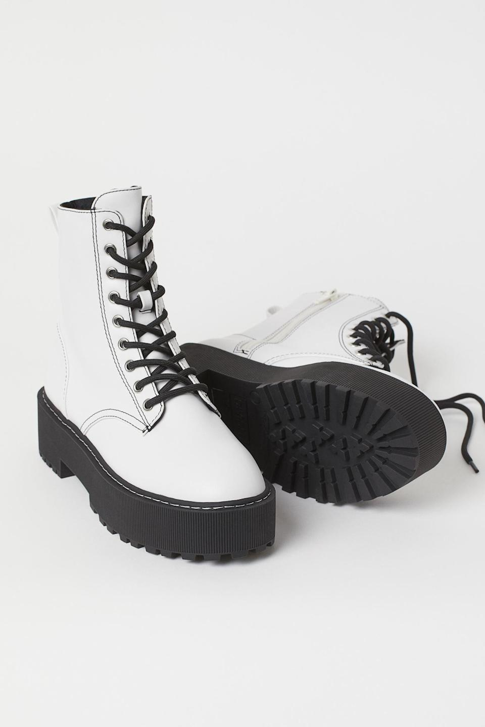 <p>Slip in these <span>Platform Boots</span> ($40) for your next road trip.</p>