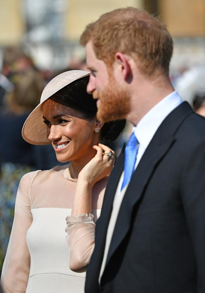 <p>Meghan Markle and Prince Harry made their first official appearance as a married couple on Tuesday. Photo: Getty </p>