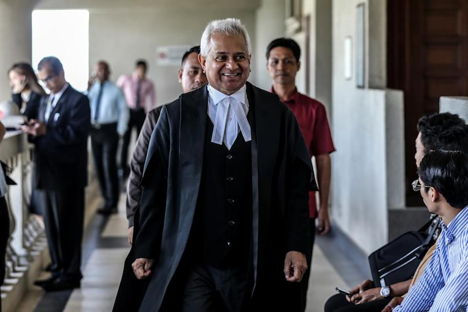 Tan Sri Tommy Thomas' book 'My Story: Justice in the Wilderness' was released on January 30, and includes events during his tenure as Malaysia's attorney general from June 2018 to February 2020. — Picture by Firdaus Latif