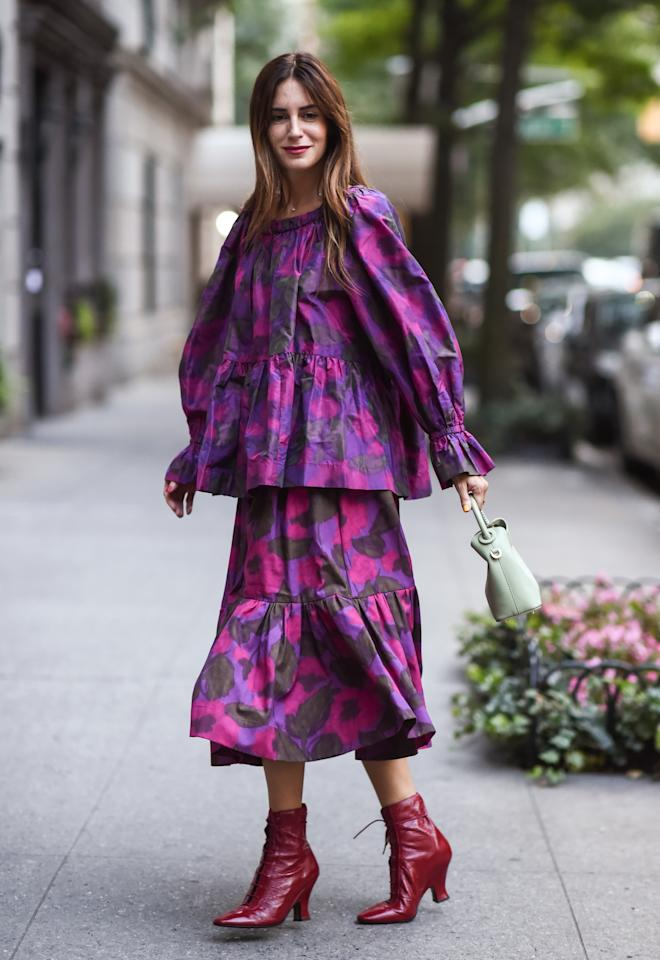 Gala Gonzalez is seen wearing a Marc Jacobs dress outside the Marc Jacobs show. [Photo: Getty]