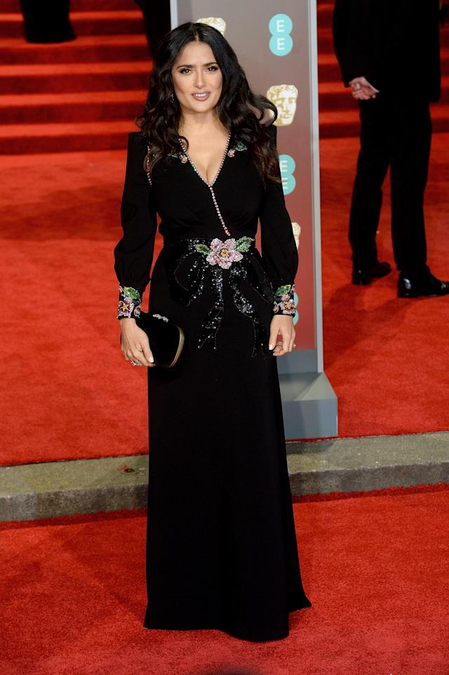 <p>The Hollywood star showed off her sartorial prowess in an embroidered Gucci gown. <em>[Photo: Getty]</em> </p>