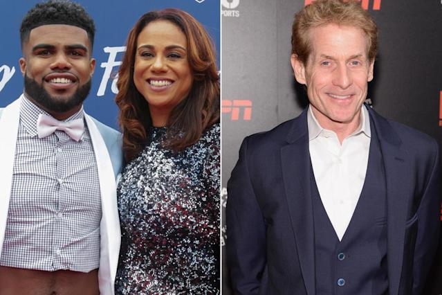 Skip Bayless, Ezekiel Elliott's mom in prolonged feud after jersey toss