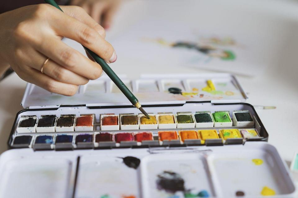 """<p>You don't have to leave your house for this fun wine and paint night. Just grab a couple canvases, paints, and paintbrushes and you're all set. Oh, and don't forget the wine! </p><p><strong>Get the tutorial at <a href=""""https://stepbysteppainting.net/2017/09/07/diy-paint-night-supplies/"""" rel=""""nofollow noopener"""" target=""""_blank"""" data-ylk=""""slk:Step by Step Painting"""" class=""""link rapid-noclick-resp"""">Step by Step Painting</a>.</strong></p><p><strong><a class=""""link rapid-noclick-resp"""" href=""""https://www.amazon.com/Inch-Stretched-Canvas-Value-Pack/dp/B01N9CWFH8/?tag=syn-yahoo-20&ascsubtag=%5Bartid%7C10050.g.30445302%5Bsrc%7Cyahoo-us"""" rel=""""nofollow noopener"""" target=""""_blank"""" data-ylk=""""slk:SHOP CANVASES"""">SHOP CANVASES</a><br></strong></p>"""