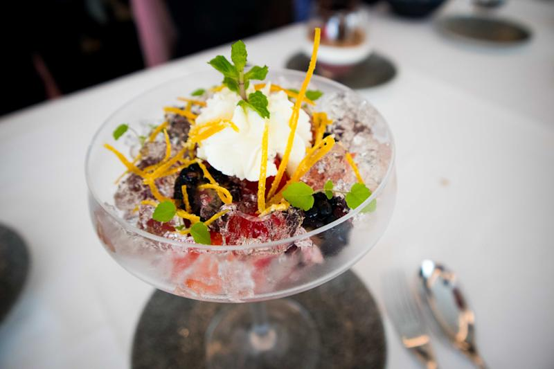 Champagne Jelly from the Dessert Trolley. (PHOTO: Zat Astha/Yahoo Lifestyle Singapore)