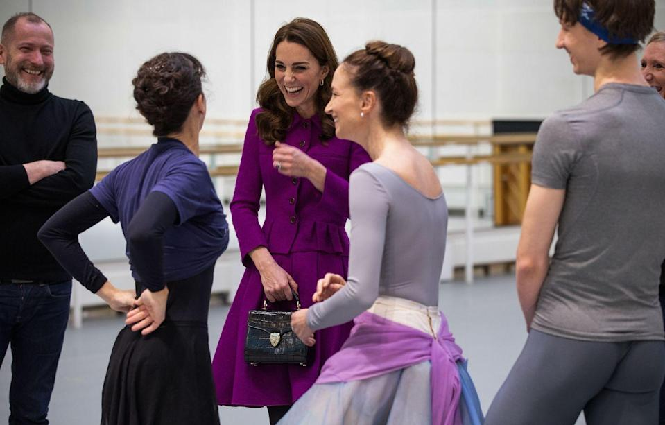 <p>Here is Duchess Kate is having a laugh with some of the dancers.</p>