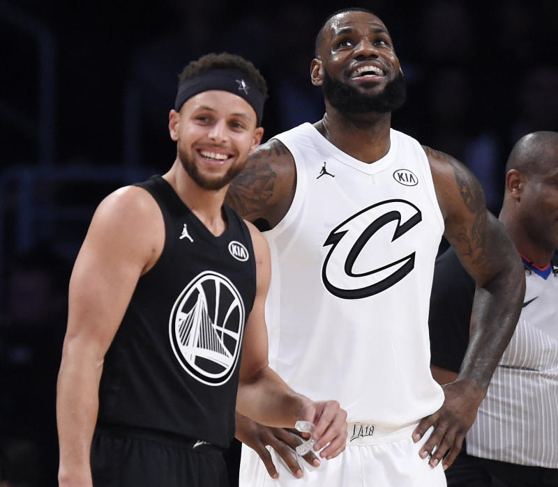 Stephen Curry and Le Bron James served as captains for the NBA's first annual All Star draft. More