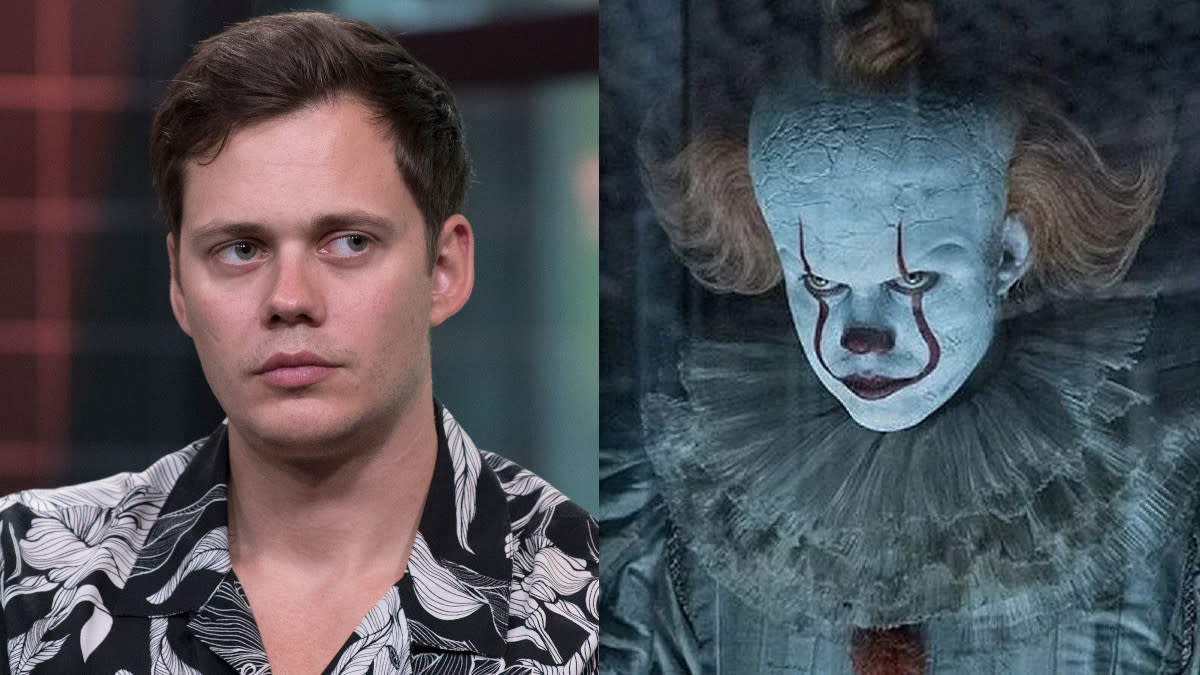The creepiest of the Skarsgård clan terrified audiences all over again under layers of make-up as Pennywise the Dancing Clown in <em>It: Chapter Two</em>. (Credit: Debra L Rothenberg/Getty Images/Warner Bros)