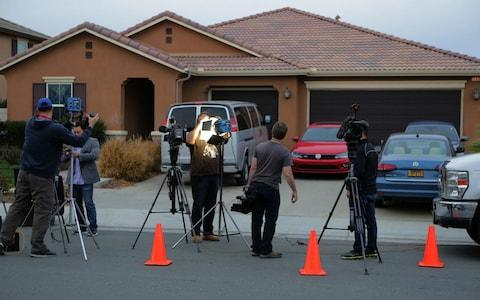 Media report from the home of the Turpin family - Credit:  BILL WECHTER/AFP