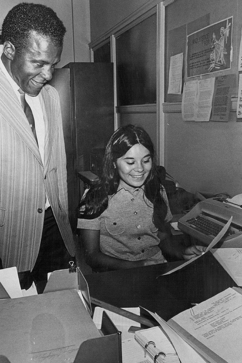 <p>A young girl received an award for her hard work as a junior clerk at the U.S.D.A. during the summer of 1971.</p>