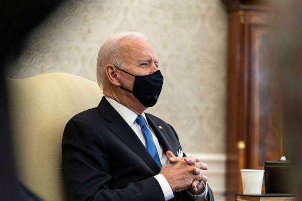 PHOTO: President Joe Biden speaks during a bipartisan meeting on cancer legislation in the Oval Office at the White House in Washington, March 3, 2021. (Alex Brandon/Reuters)