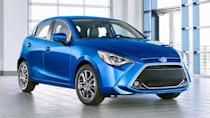 """<p><strong>Score: 6.0 / 10</strong></p> <p>The Mazda-based <a href=""""https://www.motor1.com/reviews/412339/2020-toyota-yaris-xle-hatchback-review/"""" rel=""""nofollow noopener"""" target=""""_blank"""" data-ylk=""""slk:Toyota Yaris"""" class=""""link rapid-noclick-resp"""">Toyota Yaris</a> is officially on the way out. We spent a week with the small hatchback before it goes and found it fun to drive and well-priced – but that's about it. The subcompact hatch doesn't have some of the same equipment found on newer models, nor is it particularly good looking. It gets just 6.0 points out of 10 on our scale.</p> <br><a href=""""https://www.motor1.com/reviews/412339/2020-toyota-yaris-xle-hatchback-review/"""" rel=""""nofollow noopener"""" target=""""_blank"""" data-ylk=""""slk:2020 Toyota Yaris XLE Hatchback Review: Adorable, Affordable"""" class=""""link rapid-noclick-resp"""">2020 Toyota Yaris XLE Hatchback Review: Adorable, Affordable</a><br>"""