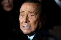 Former Italian Prime Minister and leader of the Forza Italia party Silvio Berlusconi attends a rally ahead of a regional election in Emilia-Romagna, in Ravenna