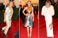 <p><strong>The theme: </strong>Schiaparelli and Prada: Impossible Conversations </p> <p><strong>The co-chairs: </strong>Miuccia Prada, Carey Mulligan and Anna Wintour </p> <p><strong>Honorary chair: </strong>Jeff Bezos </p>