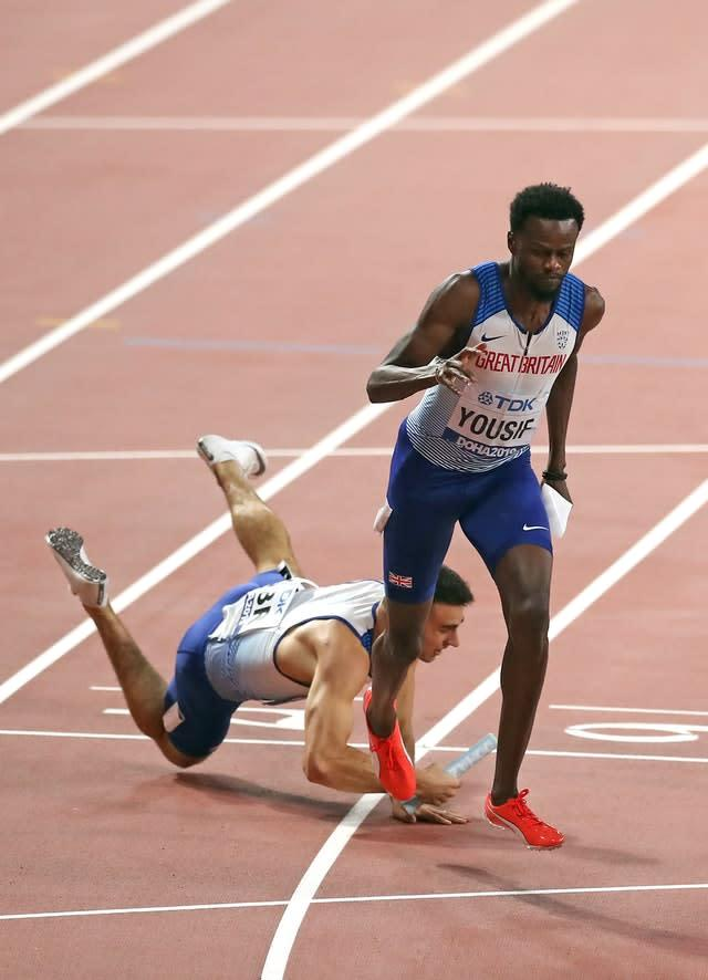 There was frustration for Rabah Yousif (right) and Toby Harries (Martin Rickett/PA)