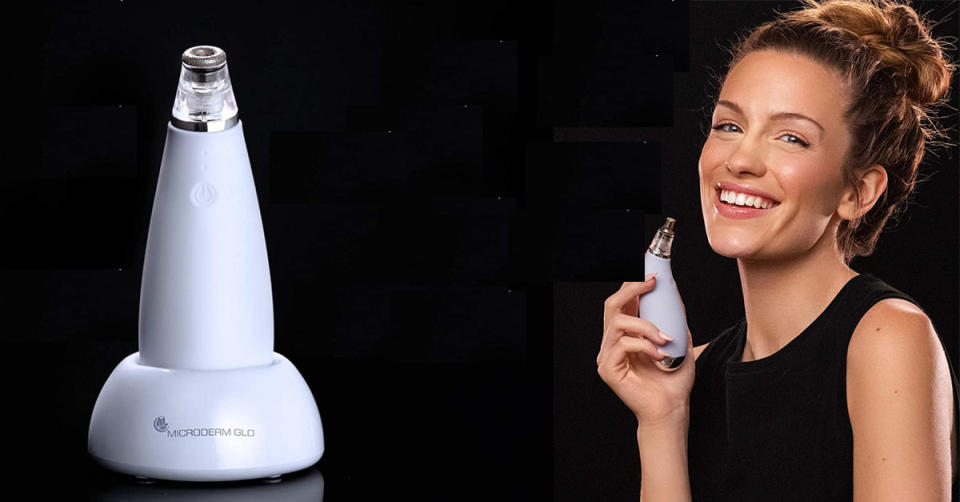 Microderm GLO MINI Diamond Microdermabrasion and Suction Tool (Photo: Amazon)