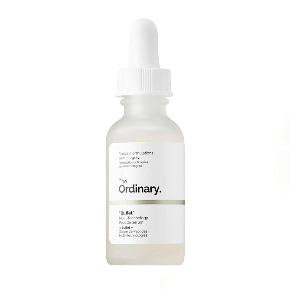 """I just turned 25, and I'm ready to start thinking about upping my anti-aging routine. However, I'm on serious topicals for my acne, so anything too aggressive was out of the question. This serum, which uses a combo of peptides and hyaluronic acid to plump and firm, feels like a good place to start. I noticed my skin looks much more bright and bouncy when I use it, and it's helped curb some of the irritation from my topicals. It also feels much more luxurious than the price would lead me to believe, and I look forward to using it every day. —<em>B.C.</em> $15, The Ordinary. <a href=""""https://shop-links.co/1739892561153778499"""" rel=""""nofollow noopener"""" target=""""_blank"""" data-ylk=""""slk:Get it now!"""" class=""""link rapid-noclick-resp"""">Get it now!</a>"""