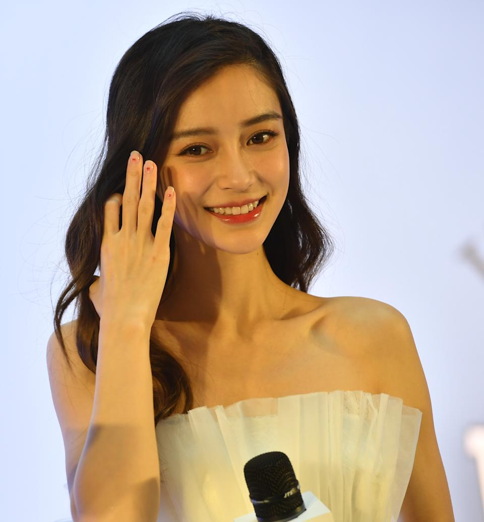 XI'AN, CHINA - NOVEMBER 08: Actress Angelababy attends Sulwhasoo event on November 8, 2019 in Xi'an, Shaanxi Province of China. (Photo by VCG/VCG via Getty Images)