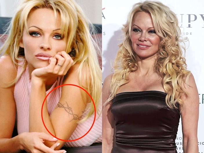 pamela anderson tattoo skitch