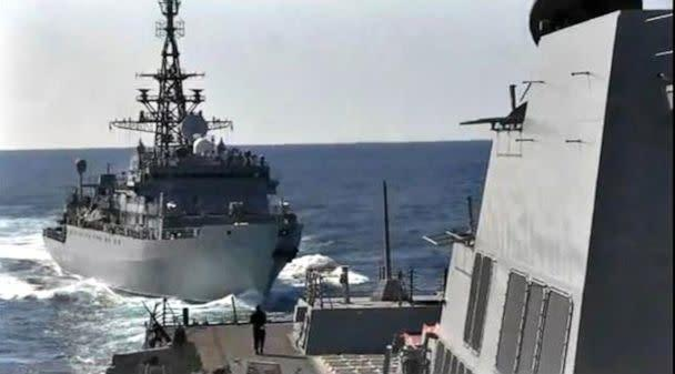 PHOTO: On Thursday, Jan. 9, 2019, while conducting routine operations in the North Arabian Sea, USS Farragut (DDG 99) was aggressively approached by a Russian Navy ship, according to the U.S Navy. (U.S. Navy)