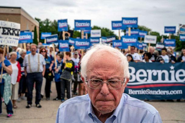 PHOTO: Sen. Bernie Sanders (I-Vt.), a candidate for the Democratic presidential nomination, campaigns in Milford, N.H., on Sept. 2, 2019. (The New York Times via Redux, FILE)