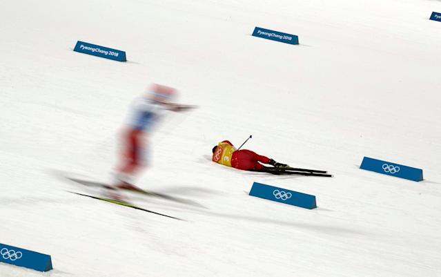 """Nordic Combined Events - Pyeongchang 2018 Winter Olympics - Men's Team 4 x 5 km Final - Alpensia Cross-Country Skiing Centre - Pyeongchang, South Korea - February 22, 2018 - Go Yamamoto of Japan reacts. REUTERS/Carlos Barria SEARCH """"OLYMPICS BEST"""" FOR ALL PICTURES. TPX IMAGES OF THE DAY."""