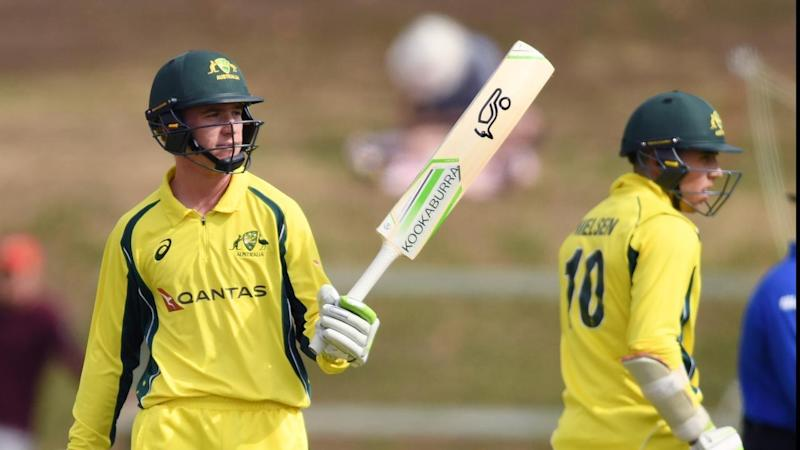 Australian Mackenzie Harvey, 17, has shown he's unfazed taking on Test cricketers at the crease.
