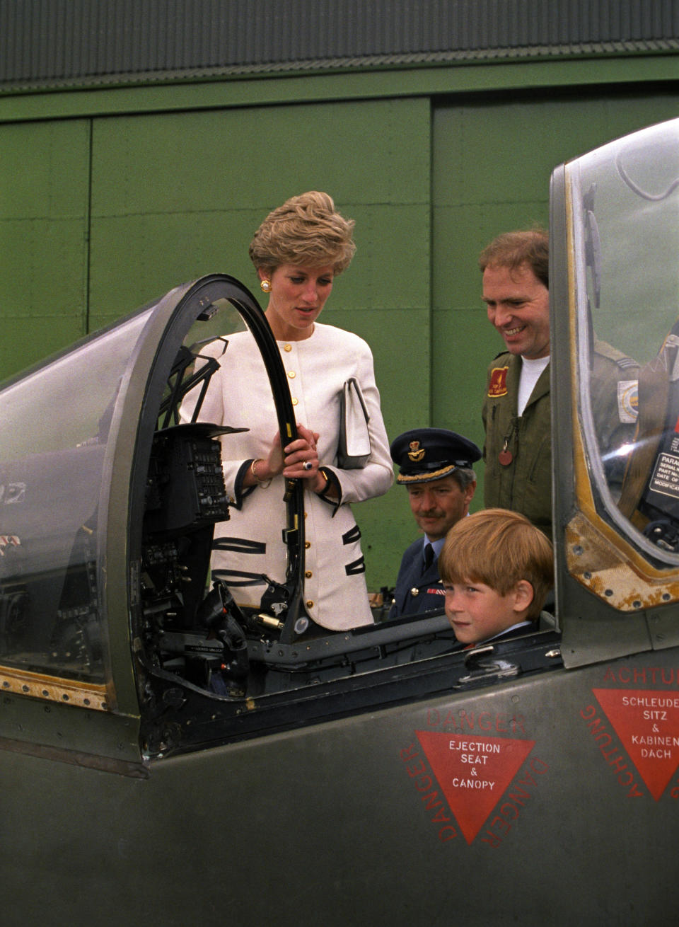 Prince Harry at about seven, with his mother, Diana. (Getty Images)