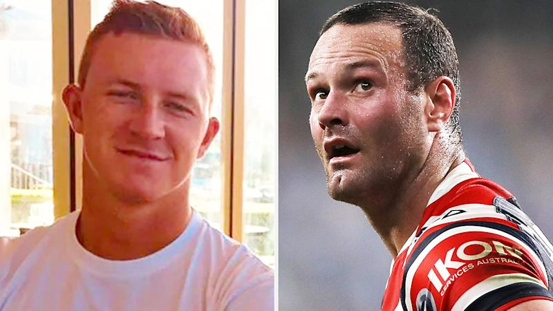 A 50-50 split image shows Joel Dark on the left and Boyd Cordner on the right.