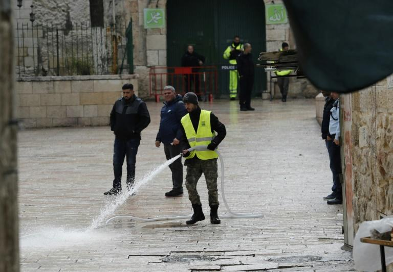 Israeli security forces gather in Jerusalem's Old City where police shot and killed a suspect who approached them with a knife