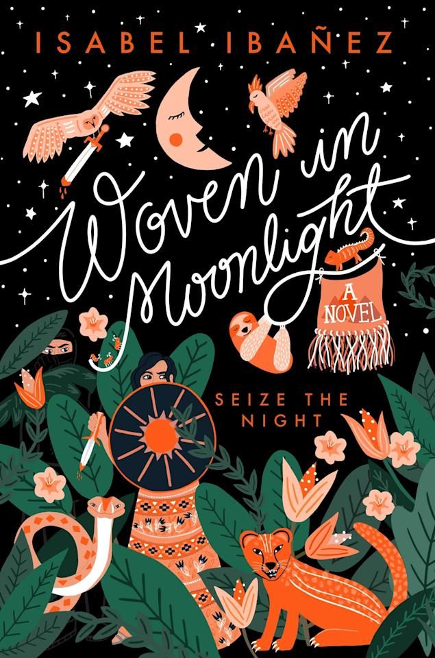 """<p>Isabel Ibañez's <a href=""""https://www.popsugar.com/buy?url=https%3A%2F%2Fwww.amazon.com%2FWoven-Moonlight-Isabel-Iba%25C3%25B1ez%2Fdp%2F1624148018&p_name=%3Cstrong%3EWoven%20in%20Moonlight%3C%2Fstrong%3E&retailer=amazon.com&evar1=buzz%3Aus&evar9=46547039&evar98=https%3A%2F%2Fwww.popsugar.com%2Fphoto-gallery%2F46547039%2Fimage%2F46547123%2FWoven-in-Moonlight&list1=books&prop13=api&pdata=1"""" rel=""""nofollow"""" data-shoppable-link=""""1"""" target=""""_blank"""" class=""""ga-track"""" data-ga-category=""""Related"""" data-ga-label=""""https://www.amazon.com/Woven-Moonlight-Isabel-Iba%C3%B1ez/dp/1624148018"""" data-ga-action=""""In-Line Links""""><strong>Woven in Moonlight</strong></a> is set to be a beautiful, dreamlike fantasy tale. Drawing inspiration from Bolivian history, the story focuses on Ximena, the stand in for the last remaining member of her people's royal family. Ximena is obligated to marry the usurper Atoc, but she has a plan to use her gift of weaving to lead a resistance from within Atoc's regime. </p> <p><strong>Release date:</strong> Jan. 7</p>"""