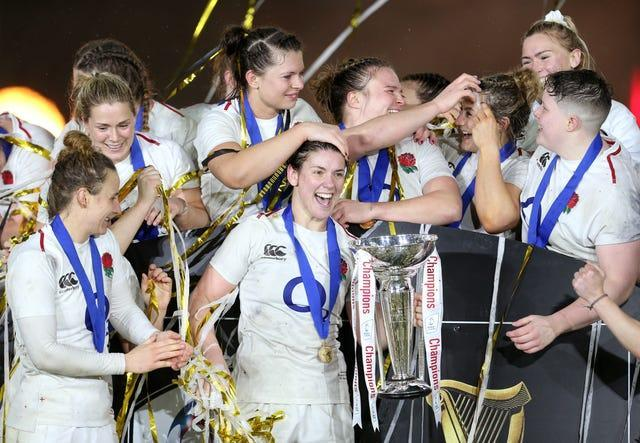 England Women celebrate their 2019 Six Nations victory