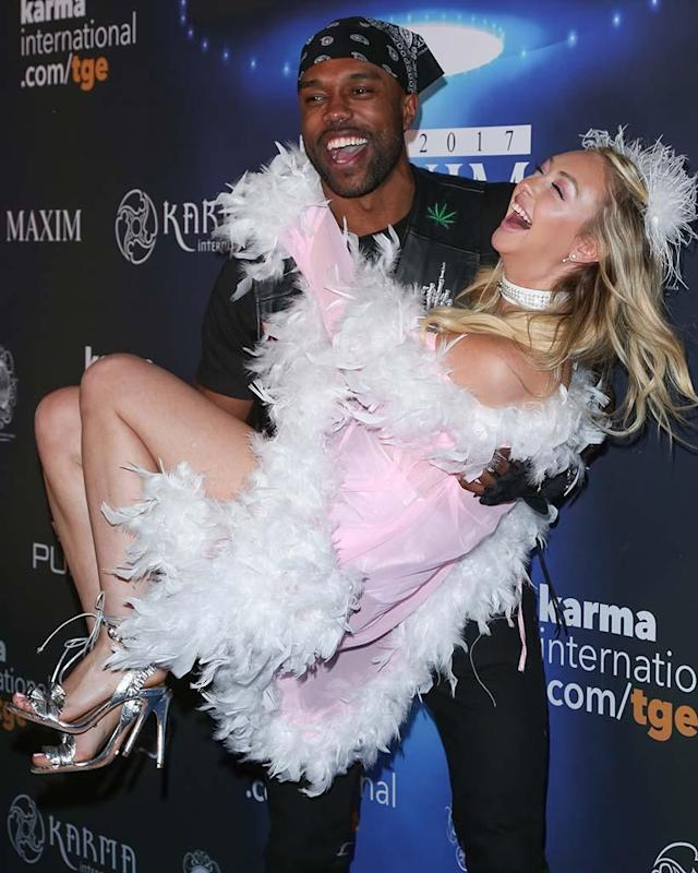 "<p>It's quite clear the <em>Bachelor in Paradise</em> alums have put their tumultuous past behind them, as the flirty duo attended the 2017 Maxim Halloween party <a href=""https://www.yahoo.com/celebrity/corinne-olympios-demario-jackson-halloween-160944788.html"" data-ylk=""slk:together"" class=""link rapid-noclick-resp"">together</a> on Saturday night. (Photo: Paul Archuleta/FilmMagic) </p>"