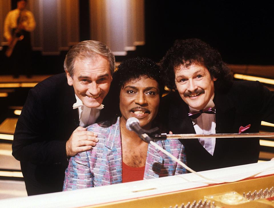 Cannon and Ball with Little Richard  in 1987Rex Features
