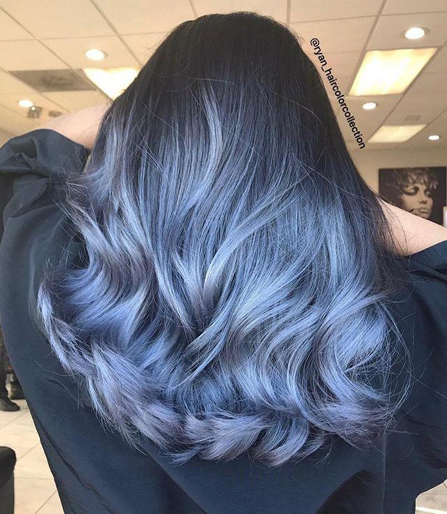 """<p>Great on those with raven dark hair, go the unexpected ombré route with this rich blue hue. </p><p><strong>Try: Olaplex</strong> Hair Perfector No. 3, $28, <a href=""""https://www.sephora.com/product/olaplex-hair-perfector-no-3-P428224"""">sephora.com</a>. <a class=""""body-btn-link"""" href=""""https://www.sephora.com/product/olaplex-hair-perfector-no-3-P428224"""" target=""""_blank"""">SHOP</a></p><p><a href=""""https://www.instagram.com/p/BvPqCInHy5U/"""">See the original post on Instagram</a></p>"""