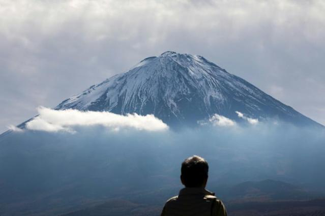 The Olympic road race at the 2020 Games tackles the lower slopes of Mount Fuji, the highest mountain in Japan (AFP Photo/Behrouz MEHRI)