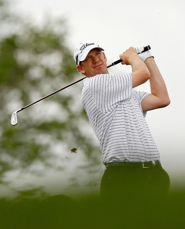 PALM BEACH GARDENS, FL - MARCH 02: Tom Gillis hits his tee shot on the 17th hole during the second round of the Honda Classic at PGA National on March 2, 2012 in Palm Beach Gardens, Florida. (Photo by Mike Ehrmann/Getty Images)