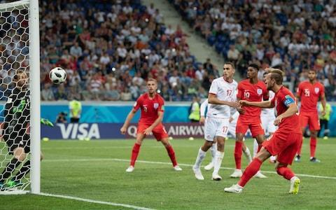 <span>Harry Kane heads England's late winner against Tunisia in their opening game</span> <span>Credit: getty images </span>